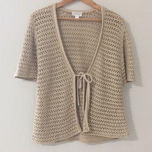 Ann Taylor LOFT half sleeve sweater